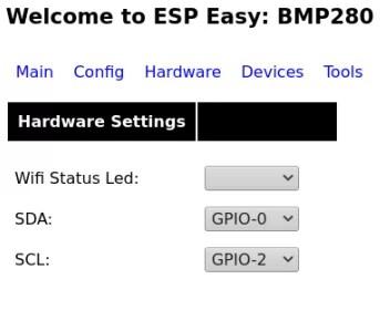 ESP01 GPIO settings