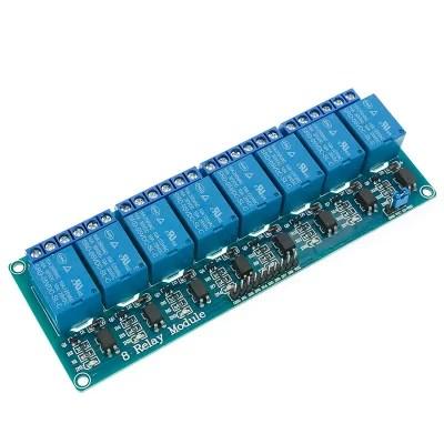 Relé modul - 8 csatornás