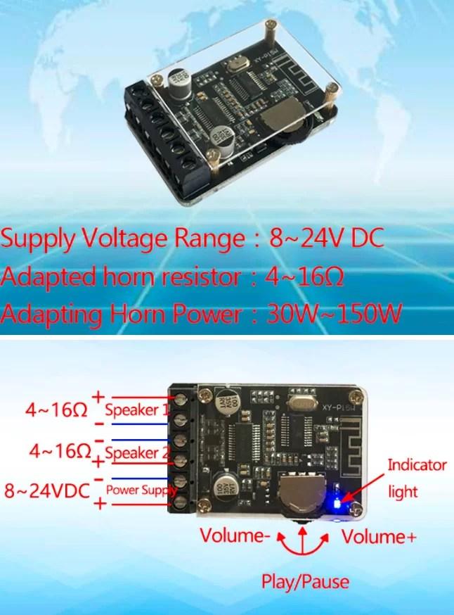 XY-P15W - Mini Bluetooth 5.0 Audio erősítő