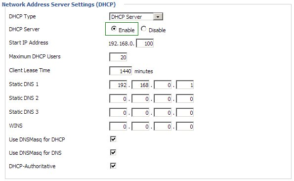 Static DHCP IP: Enable DHCP on DD-WRT