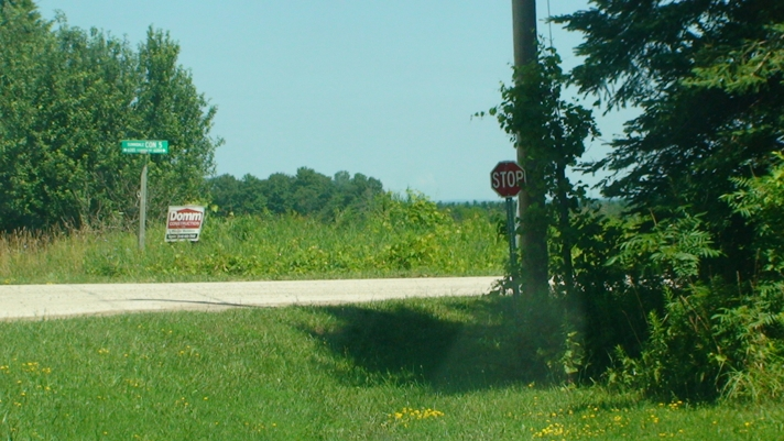 Wasaga Beach Shy Stop Sign 3