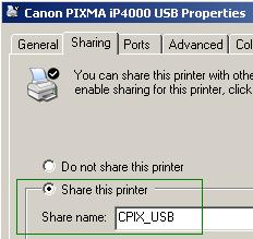 Linux Pixma Printer Configuration: Canon Pixma iP4000 / iP4100