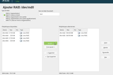 OpenSUSE Leap 15.0 RAID 1