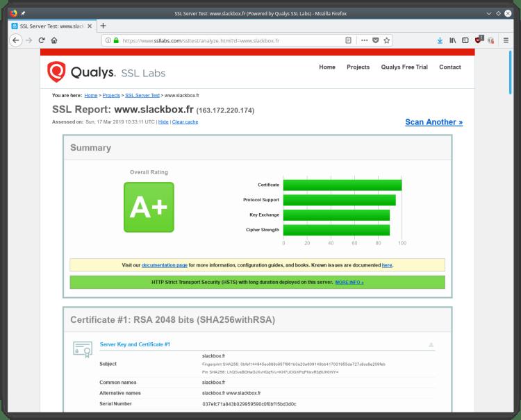 Qualys Labs SSL Test