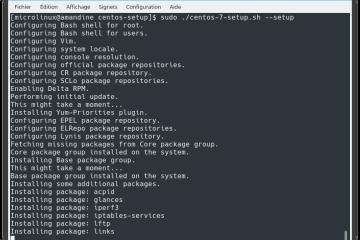 CentOS 7 Setup Script