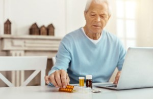 Patient portal usage to help an elderly man be compliant with his medications