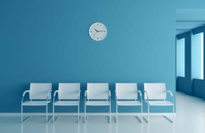social distance maintained in a practice waiting room