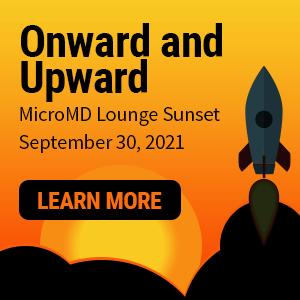 Onward and upward MicroMD Lounge Sunset September 30, 2021