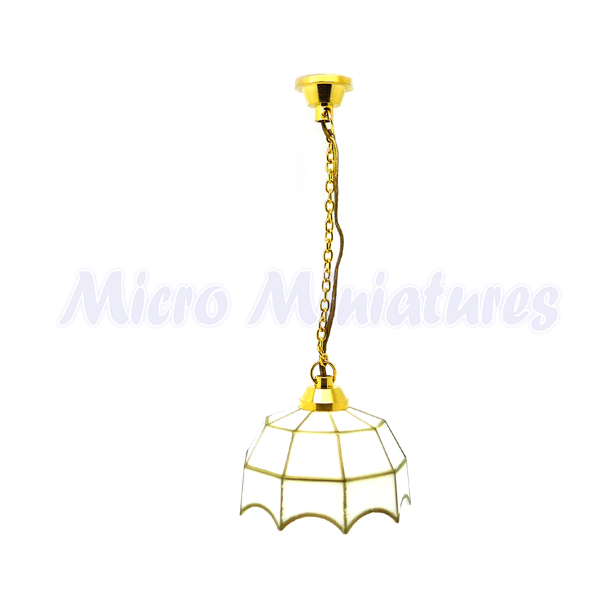 Dolls House Tiffany Hanging Light 1 12th Scale