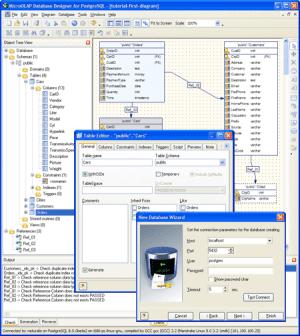 Microolap Database Designer for PostgreSQL: GUI tool for