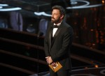 Here's Ben Affleck, limbering up to present the best documentary Oscar
