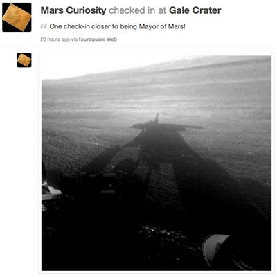 Check in en Marte
