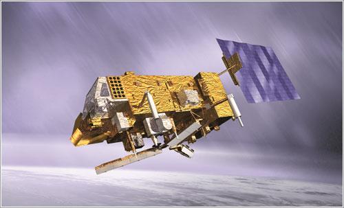 Impresión artística del MetOp en órbita