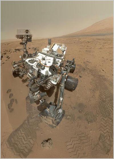Primer autorretrato oficial curiosity - NASA/JPL-Caltech/Malin Space Science Systems