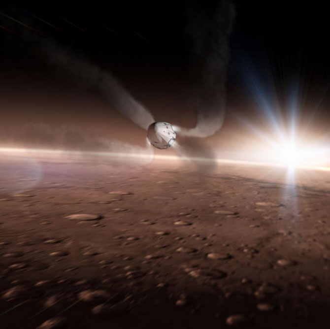Llegando a Marte