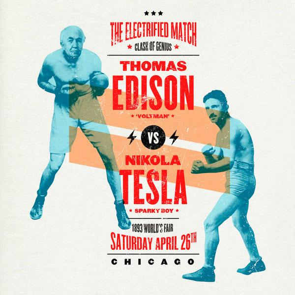 Edison vs. Tesla / Typographia
