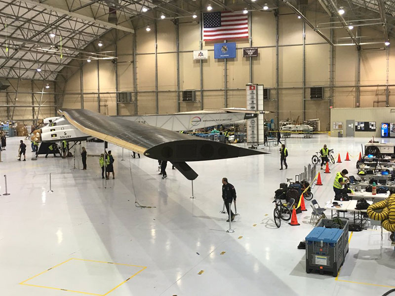 En el hangar de American Airlines