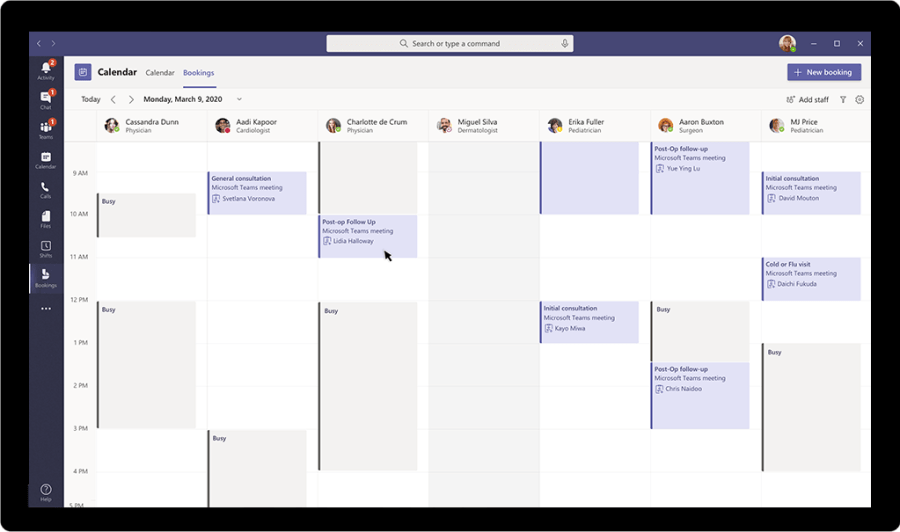Create virtual appointments inside of Teams