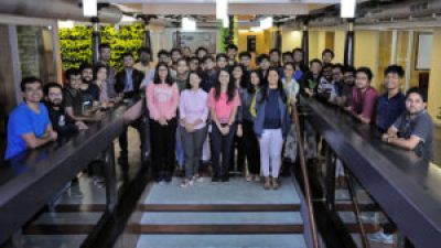 2020 Microsoft India Research Fellows group photo