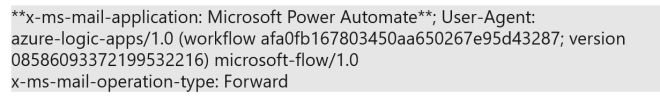 Power Platform SMTP email header with reserved word 'Power Automate'