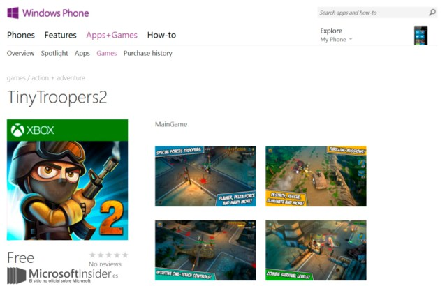 Tiny Troopers 2 Windows Phone Store