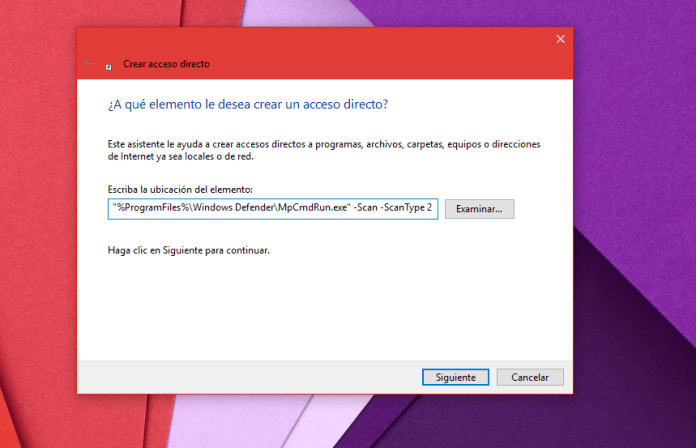 Windows Defender Análisis Completo