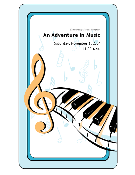 school concert event program template microsoft word template ms