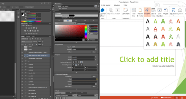 photoshop cs6 and powerpoint 2013
