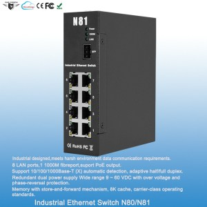 Rugged Industrial Ethernet Switch N81
