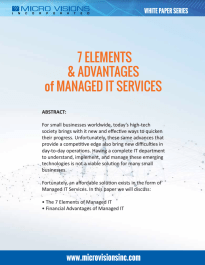 Free White Paper about the 7 Elements & Advantages of Managed IT Services