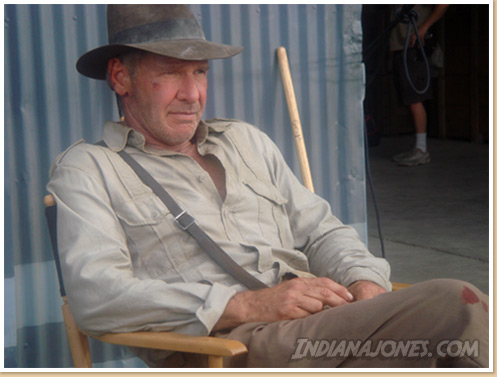 Harrison Ford in classic Indiana Jones costume