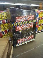 The Monopoly pinball cabinets waiting to be stuffed