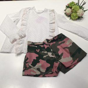 Conjunto short + blusa camuflaje de mami maria