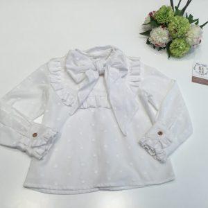 Blusa blanca lazo de glovobo