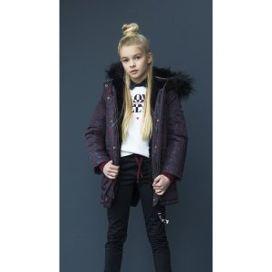 parka animal print niña looxs revolution