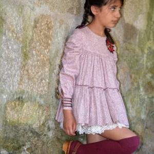 Vestido granate de la coleccion de invierno de noma fernandez