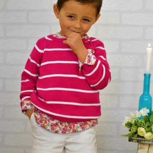 jersey niño rosa de rayas
