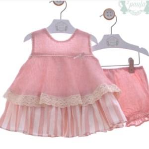 vestido rosa con pololo