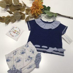 conjunto azul marino bebe