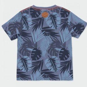 camiseta azul palmeras