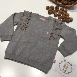 sudadera niña eva castro gris