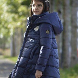abrigo largo azul de noma fernandez
