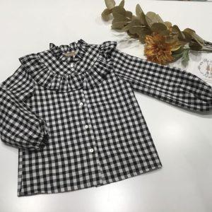 Camisa de cuadros vichy negra de Noma Fernandez