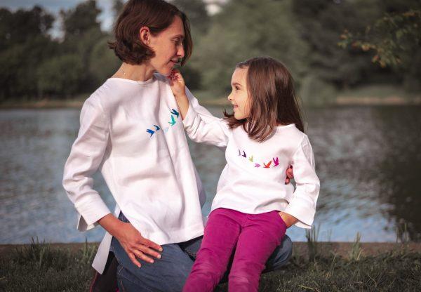Micul Curios camasi set mama fiica