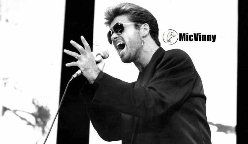 George Michael singing on stage