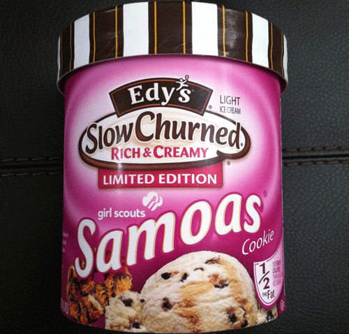 Girl Scout Samoa Ice Cream from Edy's
