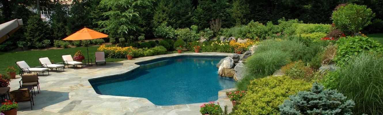 ultra modern pool patio mid