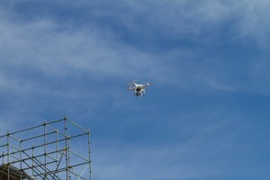 Drone used for construction mapping