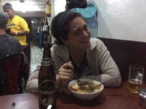 Taline's first night in Nepal