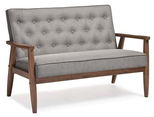Baxton Studio Sorrento Bench Fabric - Gray